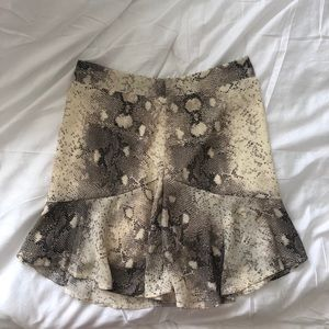 Nasty Gal snakeskin print mini skirt